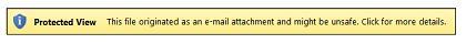 Pandangan Terlindung untuk lampiran e-mel