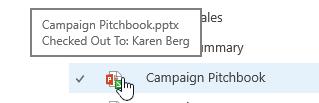 muncul apabila anda tetikus di atas ikon dokumen