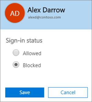 Petikan skrin Daftar Masuk kotak dialog status dalam Office 365