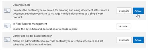Sampel theSite koleksi ciri yang anda boleh boleh menjadikan aktif untuk SharePoint