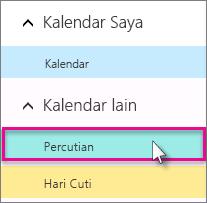 Pilih kalendar