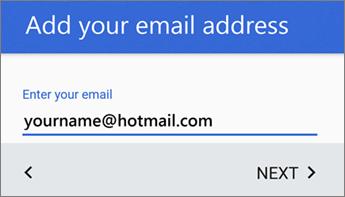 Menambah alamat e-mel