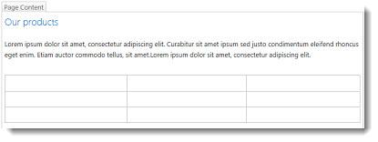 Jadual pada Laman web SharePoint Online