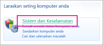 Panel Kawalan Windows 7