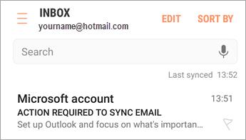 """Buka e-mel yang menyatakan """"Tindakan diperlukan"""""""