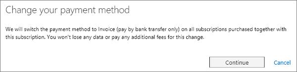 Mengubah mesej kaedah pembayaran anda.