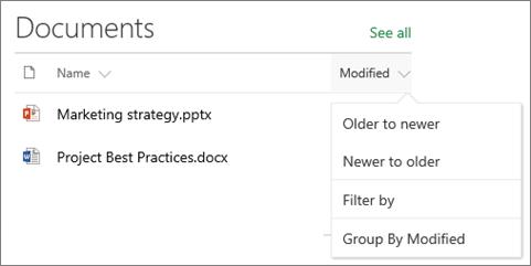 Dokumen pustaka web bahagian menunjukkan Isih, Tapis dan menu Kumpulan