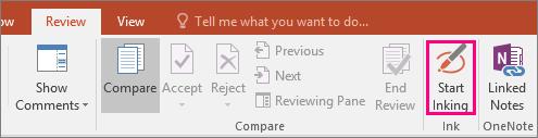 Menunjukkan butang Mulakan Pendakwatan pada tab Semak Semula dalam Office