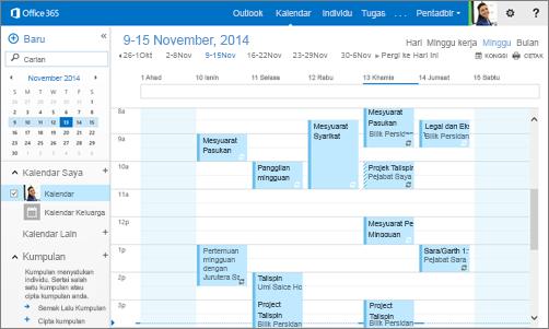 Outlook membekalkan anda e-mel dan kalendar dalam pelayar dan peranti anda