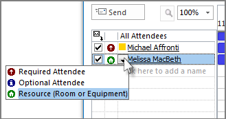 Klik ikon di sebelah kiri nama, kemudian klik Sumber