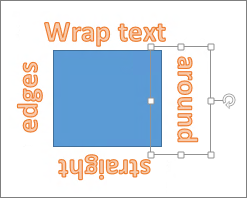 Menambah WordArt mengelilingi bentuk dengan tepi lurus