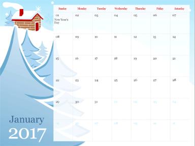 Templat Kalendar dalam PowerPoint Dalam Talian