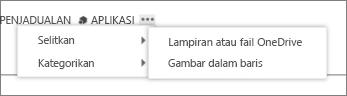 Selitkan fail dalam item kalendar