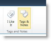 Perintah Tag sosial pada tab Senarai atau Pustaka pada reben