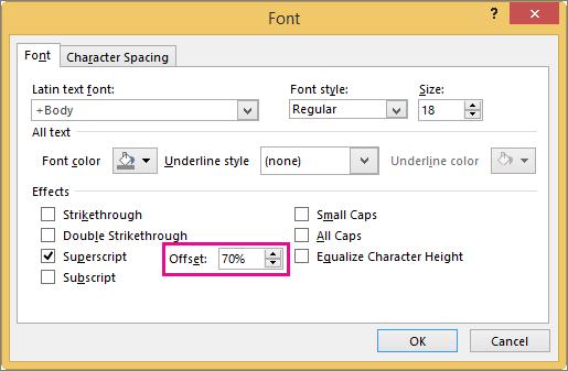 Menunjukkan kotak dialog Fon dalam PowerPoint