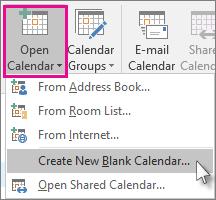 Cipta Kalendar Kosong Baru