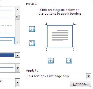 Kotak Pratonton untuk menunjukkan sempadan halaman