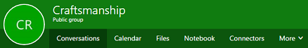 Kumpulan reben dalam Outlook pada web