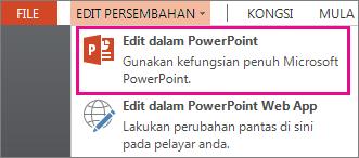 Perintah Edit dalam PowerPoint