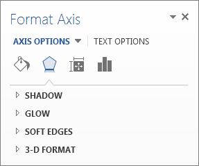 Senarai Format Opsyen Paksi sebagai contoh mengedit unsur carta