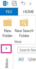 Anak panah mengembangkan Anak Tetingkap Folder.