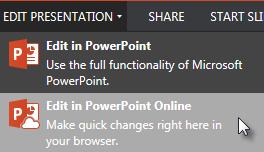 Buka dalam PowerPoint Online