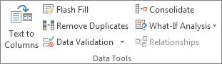Kumpulan Alat Data pada tab Data