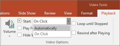 Menunjukkan Opsyen Video PowerPoint