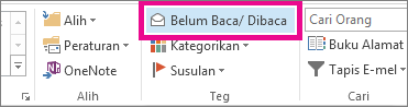 Pada tab rumah, klik belum dibaca/dibaca.