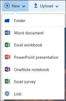 Mencipta fail baru dalam pustaka dokumen dalam Office 365