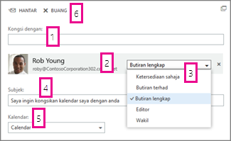 Kongsi Kalendar dalam Office Web App