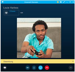 Inilah rupa Skype for Business/PBX atau panggilan telefon lain pada komputer anda.