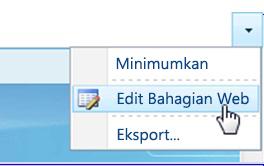 Klik Edit Bahagian Web