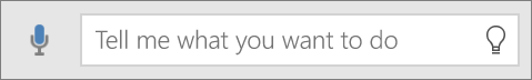 """Menunjukkan kotak carian """"Beritahu Saya"""" dalam Office Mobile"""