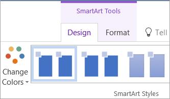 Butang ubah warna pada tab Reka bentuk alat SmartArt