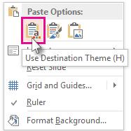 Paste Options: Gunakan Tema Destinasi