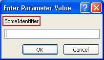 Kotak dialog Masukkan Nilai Parameter