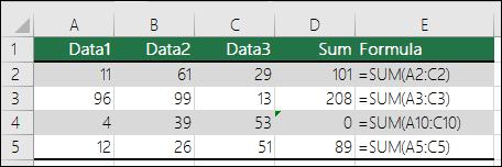 Excel memaparkan Ralat apabila formula tidak sepadan dengan corak Formula bersebelahan