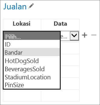 Memilih data untuk Aplikasi untuk Office untuk dipaparkan dalam aplikasi Access