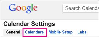 kalendar google - klik Kalendar