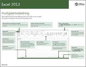 Hurtigstartveiledning for Excel 2013