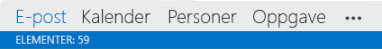 Outlook-elementer
