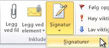 Kommandoen Signaturer på båndet