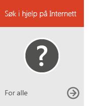 Søke i hjelpen på Internett (for alle)