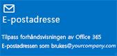 Rute for å komme i gang med administrasjon--E-postadresse