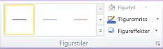 Figurstiler-gruppen i kategorien Format under SmartArt-verktøy