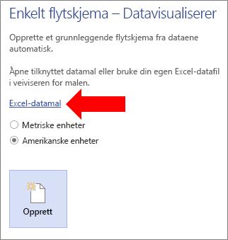 Velge koblingen til Excel-datamalen