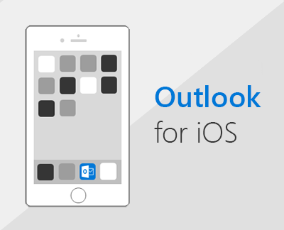 Klikk for å konfigurere Outlook i iOS