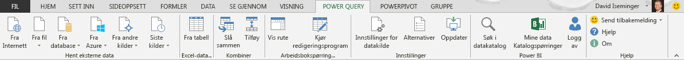 Power Query-båndet