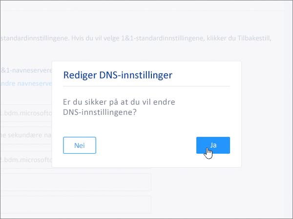 Klikk på Lagre i dialogboksen Rediger DNS-innstillinger